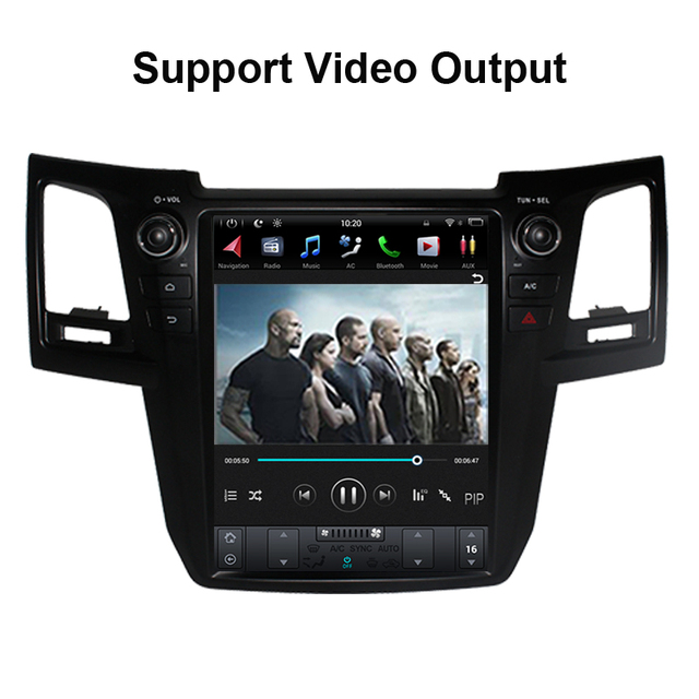 Tesla estilo android vertical 9.0 para toyota fortuner/hilux revo 2005-2014year auto ou manual a/c gps nagavition jogador de rádio do carro
