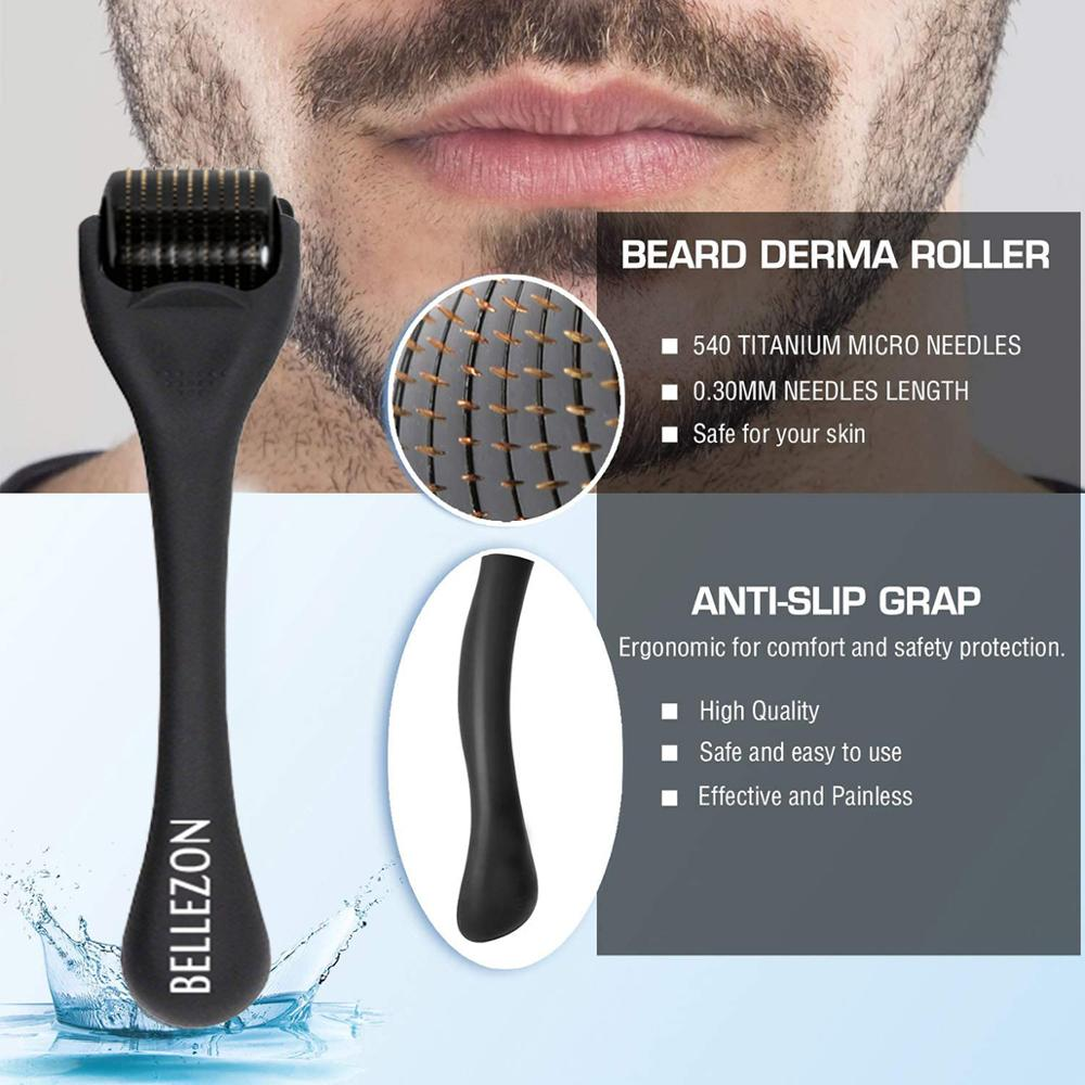 Bellezon Beard Growth Kit Hair Growth Enhancer Thicker Oil Nourishing Essence Leave-in Conditioner Beard Care with Comb 3