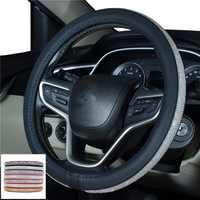 Rhinestones Crystal Car Steering Wheel Cover PU Leather Steering-wheel covers Auto Accessories Case Car Styling