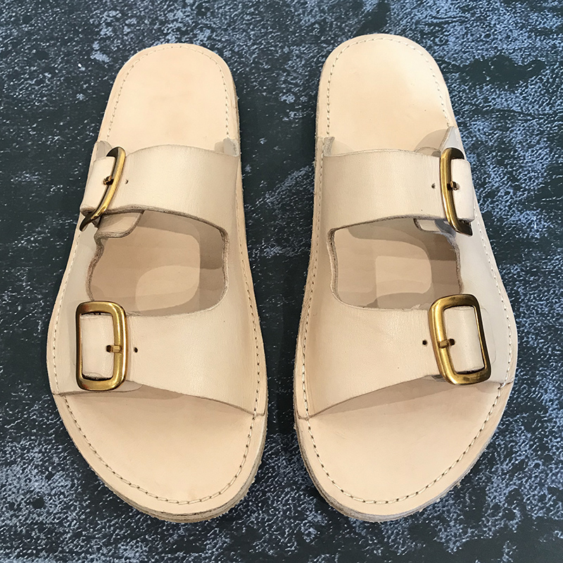 Mode echt lederen casual schoenen mannen wandelen strand slippers heren slippers handgemaakte lederen sandalen - 4