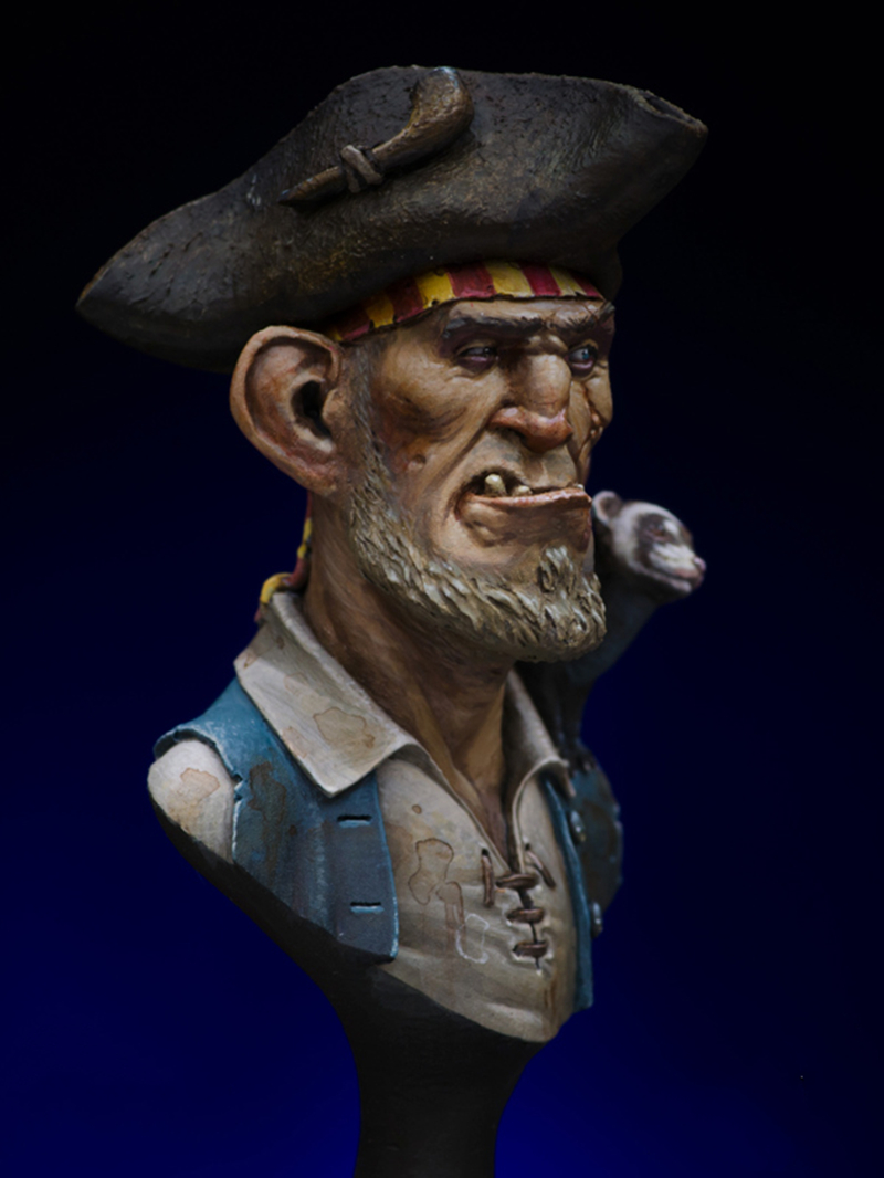 1/16 Resin Bust Model Kit Pirate Unpainted XX98D