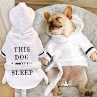 Bonito do cão pijamas para animais de estimação roupas de cachorro macio animais de estimação cães gato casaco traje para pequeno médio cães chihuahua francês bulldog pug
