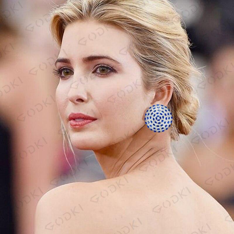 Image 5 - GODKI Fashion Korea Statement Earrings 2020 For Women Wedding Dubai Bridal Earring Bohemia Hot Modern JewelryStud Earrings   -