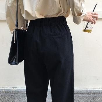 Disweet Jeans Women Elastic High Waist Loose Jeans Casual Womens Wide Leg Trousers Students Denim Fashion Harajuku Pants 5