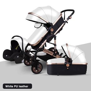 Newborn Baby Stroller 3 in 1 High Landscape Carriage Luxury Travel Pram Basket quality Stroller Baby Car seat Hot Sale Upgrade! 24