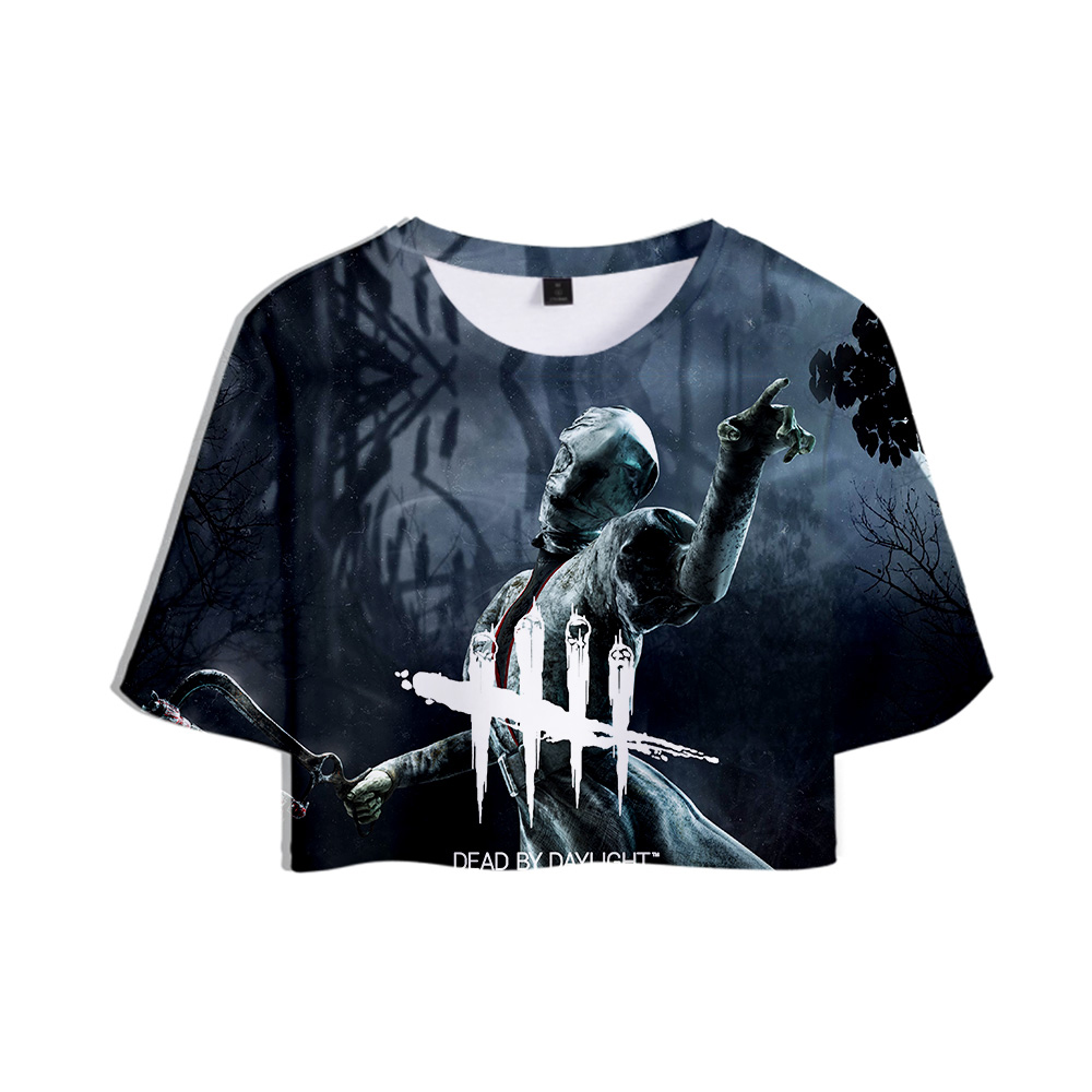 LUCKYFRIDAYF Game Dead by Daylight 2019 NEW <font><b>3D</b></font> Print Tops Crops Girl <font><b>t</b></font>-<font><b>shirt</b></font> Short <font><b>T</b></font> <font><b>shirt</b></font> Women <font><b>Sexy</b></font> Sale Casual tshirt Clothes image