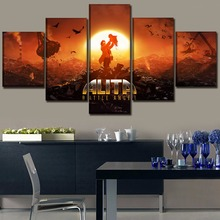 Frame Print Picture Decor Living Room Wall Home Art 5 Piece Movie Alita Fighting angel Poster Modular Abstract Canvas Painting