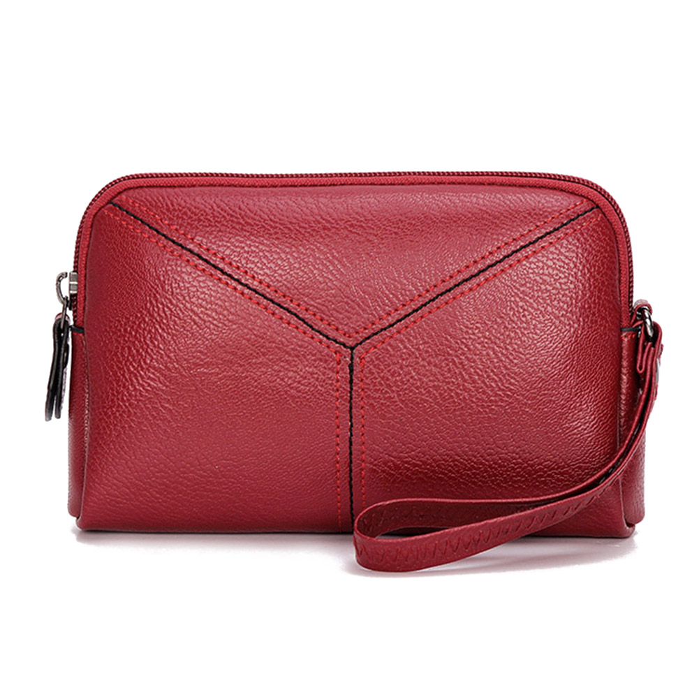 Handbags Wallet Clutch-Bag Long Mini Fashion Women Ladies Solid-Color PU