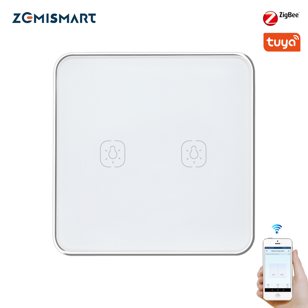 Zemismart Tuya Zigbee Wall Switch Alexa Google Home Light Switches No Neutral Wire 1 Gang 2 3 Gangs