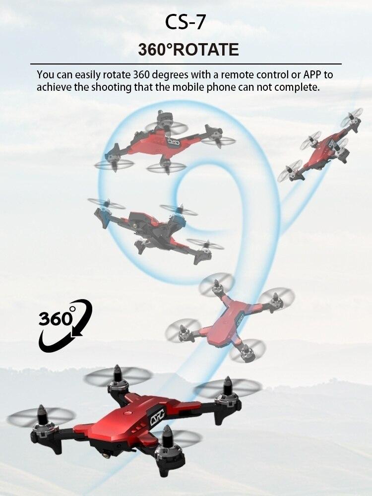 2019 Новый CS7 5G Квадрокоптер Дрон gps с камерой 4K Wifi Fpv складной Квадрокоптер RC Дрон очень стабильный вертолет - 2