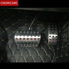 CNORICARC سيارة الوقود الفرامل مسند دواسة يغطي الزخرفية لمرسيدس بنز ML GL 320 350 400 500 2012-16 الفولاذ المقاوم للصدأ تقليم