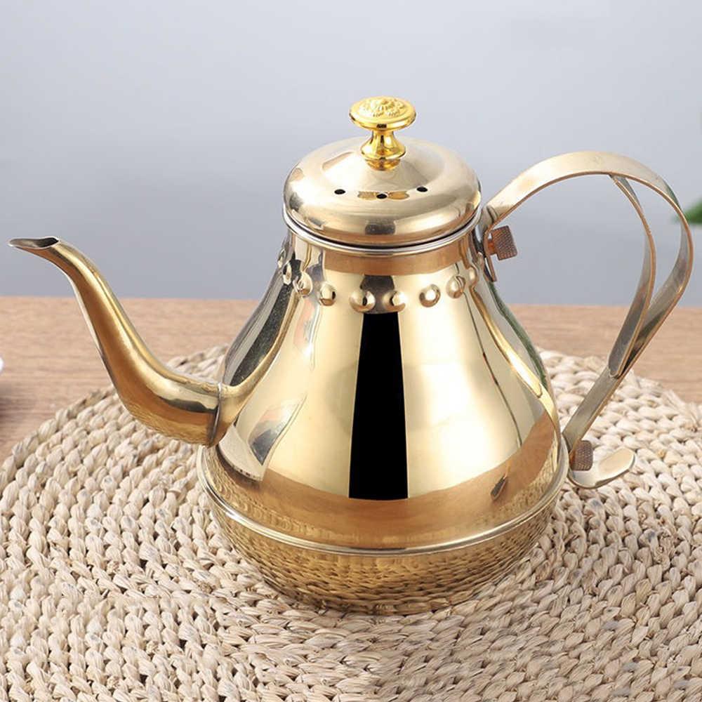 cobre Tetera de t/é con infusor de hojas sueltas de acero inoxidable para estufa de inducci/ón 2,1 cuartos 2 L a 2 litros tetera de oro rosa