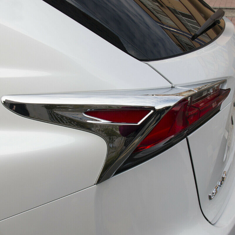 4X Chrome Rear Light Taillight Lamp Cover Trim Fit For <font><b>Lexus</b></font> <font><b>NX200t</b></font> NX300h <font><b>2015</b></font> 2016 2017 2018 <font><b>Accessories</b></font> image
