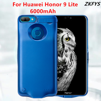 Battery Power Case For Huawei Honor 9 Lite Portable Charger Battery Case 6000mAh External Power Bank Battery Charging Case Cover oisle mini portable external battery charger battery case power bank for iphone x 11 7 8 6s xs 12 samsung s9 huawei p30 xiaomi 9