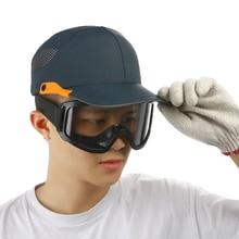 Güvenlik yumru şapka kask yansıtıcı çizgili hafif ve nefes alabilir sert şapka kafa çalışma alanı şantiye şapka siyah