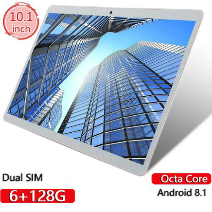 Tablets 10.1 Inch RAM 6GB ROM 128GB 12800*800 IPS Screen Android Tablet Octa Core Dual SIM Card Phone 4G Call Wifi Tablets PC