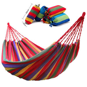 Canvas Hammock Hanging-Chair Swing Outdoor Blue Camping Garden Double-Wide Red Thick