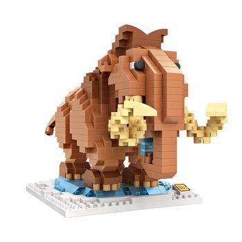 LOZ Micro-drill Building Block Mini-particle Micro-building Block Cartoon Mammoths Children Girls and Boys Toys 9731