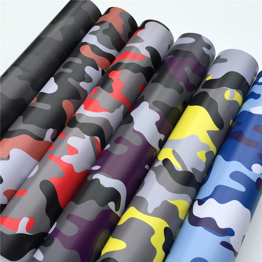 Arctic Black Camo Vinyl Car Wrap Film Camouflage Vinyl Wrapping Car Sticker Console Computer Laptop Cover Scooter Motorcycle(China)