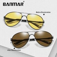 BANMAR Photochromic Sunglasses Men Polarized Chameleon Glasses Male Change Color Sun Day Night Vision Driving Eyewear