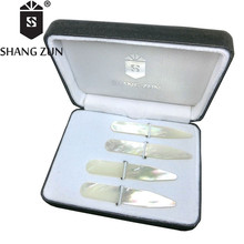 цены White Natural Shell Mother of Pearl Collar Stays 60MM 4 Pcs Set Collar Bones