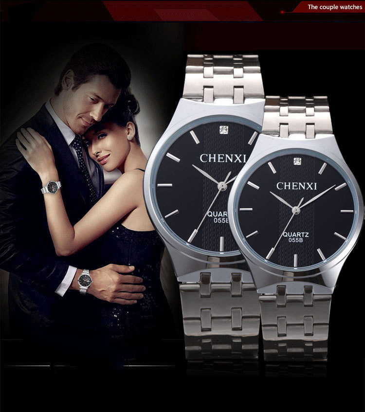 TurnFinger High-end Popular Top Craft Luxury Quality Waterproof Simple Fashion Classic Beautiful Romantic Couple Watch