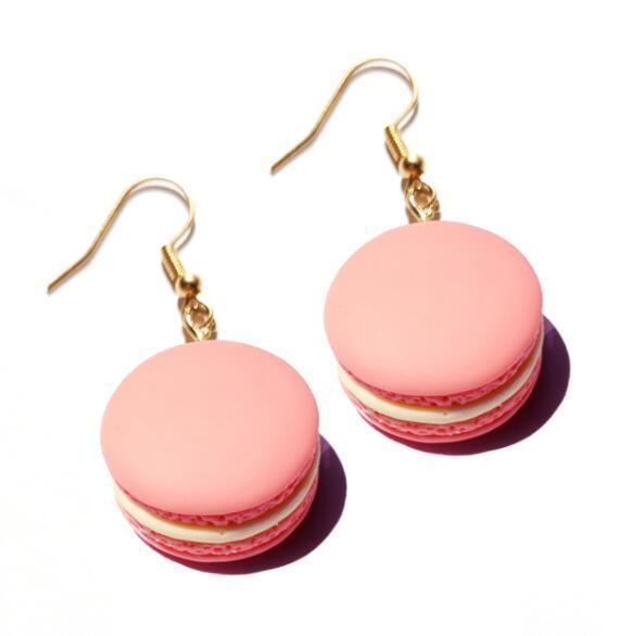 Earring For Women Resin Drop Custom Made Handmade Cute Girls Gift Cookies Macaron Cake Food Donuts