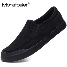 Monstceler Brand New Fashion Mens Vulcanized Shoes Flannel Slip on Loafer Designer Casual Shoes Spring Simple Flats M7983