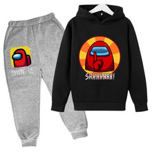 Boys custom Hoodie Kids Clothes Funny Game AmongUs Hoodies cute girls Novelty Sweatshirt Children's clothing sets teens