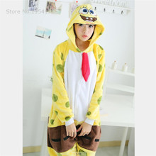 Sponge onesies Pajamas Cartoon costume cosplay Pyjamas Adult  Animal  Onesies  party dress  Halloween pijamas kigurumi leopard animal onesies pajamas cartoon costume cosplay pyjamas adult onesies party dress halloween pijamas