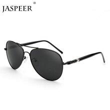 JASPEER Aviation Metail Frame Oversized Spring Leg Alloy Men Sunglasses