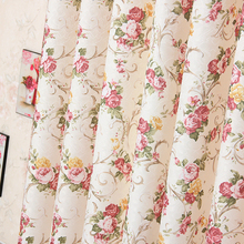 Small Broken Flower Korean Style Pastoral Printing Shade Curtains for Living Dining Room Bedroom.