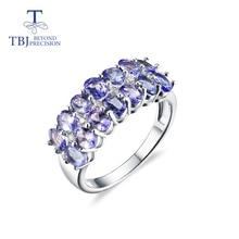 Natürliche tanzanite edelstein Ring nur 925 sterling silber ring und verschluss ohrringe feine schmuck für mädchen schwarz Freitag, Weihnachten