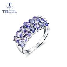 Tanzanite boucles doreilles en pierres précieuses naturelles, bijoux fins, bague en argent sterling 925, pour filles, vendredi noir, noël