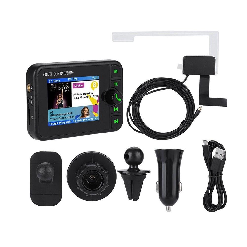 2.4 pouces Bluetooth FM émetteur Mini DAB récepteur Radio coloré TFT sortie Audio DAB Tuner utilisation en Europe australie seulement
