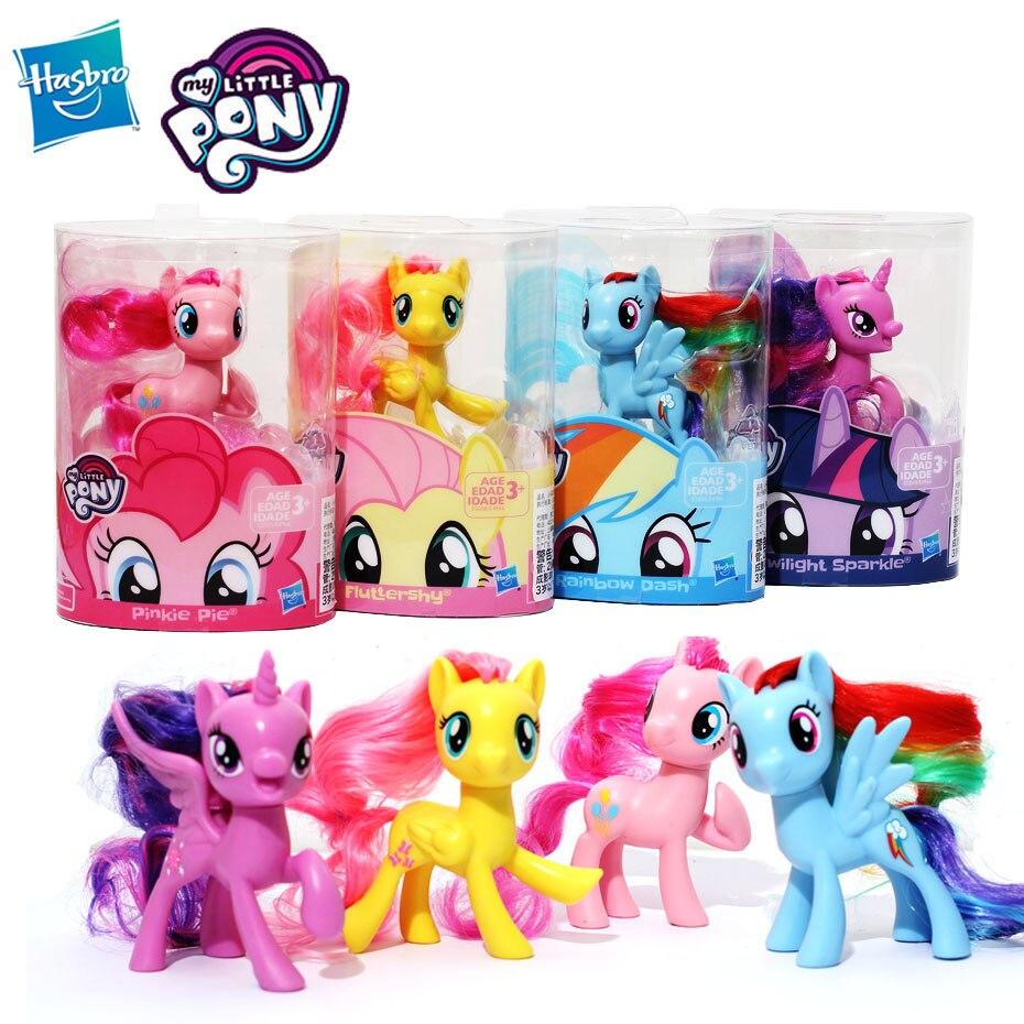 My Little Pony Rainbow Pony Mini Pony Movie Dash Hasbro Fluttershy Princess Pony Girl Gifts Toy