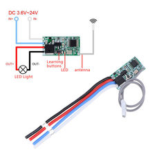 DIY 433 Mhz 1CH RF Relay Receiver Universal Wireless Remote Control Switch Micro Module LED Light Controller DC 3.6V-24V(China)