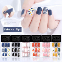 30pcs/Box Wearable Fake Nails Tips Waterproof Seamless Traceless Sticker False Fingernails Soft Reusable Nail Art Manicure Tools