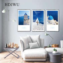 Nordic Art Home Canvas Painting Wall Picture Classic Architecture Printing Poster for Living Room  AJ00261