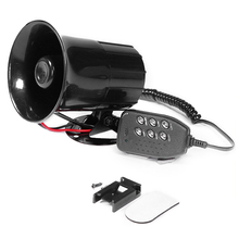 100W 6 Sound  Car Horn Tone Loud Horn Motorcycle Car Truck Speaker Warning Alarm Siren Police Fire Ambulance Horn Loudspeaker цена 2017