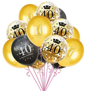 Image 4 - Taoup 40th Birthday Party Tableware Paper Plates Banners Tablecloth Towels Happy 40 Birthday Party Decorations Adults Parents