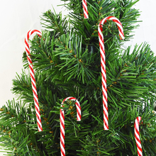 Candy Cane Pendant Christmas-Tree-Ornament Party-Supplies Hanging New-Year Plastic 6pcs
