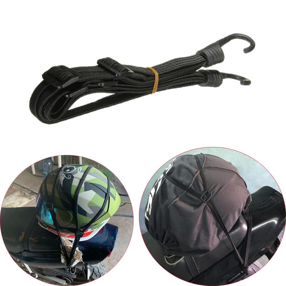 60cm Motorcycle Helmet Rope Net Bike Luggage Strap Hook Elastic Universal Motos Helmet Tape String Accessories
