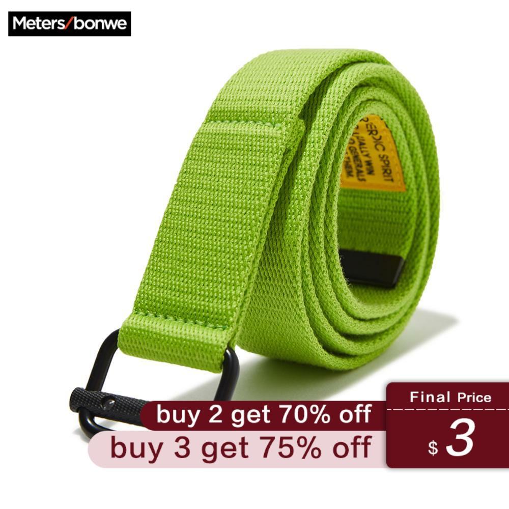Metersbonwe Canvas Solid Color Belt Men 2020 Spring New Belt Korean Casual Handsome Tooling Wind Men College Belt