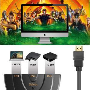 Image 4 - מתג HDMI 3 נמל 4K HDMI מתג 3 ב 1 מתוך עם גבוהה מהירות מתג ספליטר צם כבל תומך מלא HD 4K 1080P 3D נגן
