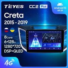 Teyes cc2l cc2 plus para hyundai creta ix25 2015 - 2019 rádio do carro reprodutor de vídeo multimídia navegação gps android nenhum 2din 2 din
