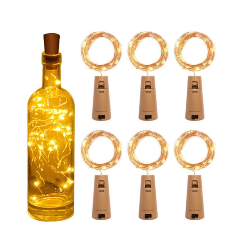 LED Garland Copper Wire Corker String Fairy Night Lights Glass Craft Bottle New Year/Christmas/Valentines Wedding Decoration
