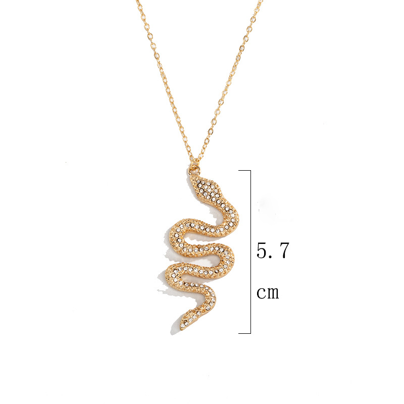 SOHOT Cute Animal India Alloy Snake Shape Pendant Women Jewelry Set Chic Gold Color Charming Birthday Jewelry Bijoux Gift