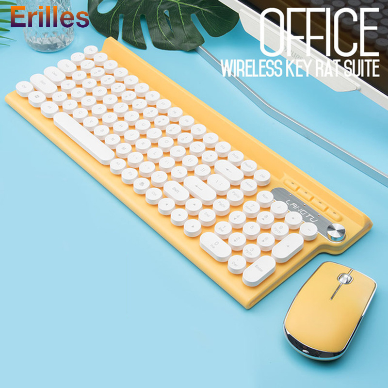 2.4G Wireless Keyboard and Mouse 2400dpi Ultra Thin Full-size Keyboard Computer PC Accessories Rechargeable Wirelss Mouse 2.4G