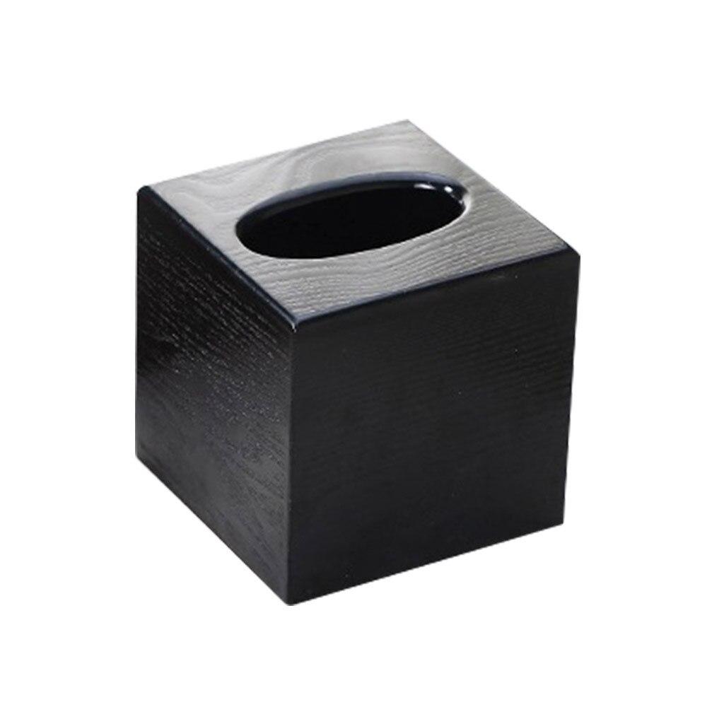 Деревянная коробка для салфеток, деревянная коробка для хранения салфеток прямоугольной формы, Рабочий стол для гостиной, бумажный лоток, коробка для хранения бумаги - Color: A
